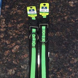 2 large adjustable dog collars